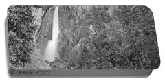 Lower Yosemite Falls In Black And White By Michael Tidwell Portable Battery Charger