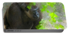 Portable Battery Charger featuring the painting Lowland Gorilla by Judy Kay