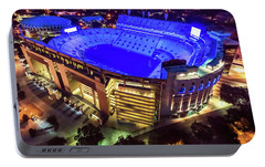 Portable Battery Charger featuring the photograph Lsu Blue by Andy Crawford