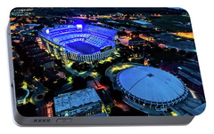 Portable Battery Charger featuring the photograph Lsu Tiger Stadium Supports Law Enforcement by Andy Crawford
