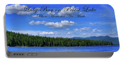 Luby Bay On Priest Lake Portable Battery Charger