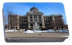 Portable Battery Charger featuring the photograph Lucas County Courthouse I by Michiale Schneider