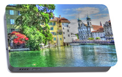 Portable Battery Charger featuring the photograph Lucerne by Adrian LaRoque