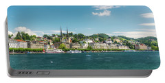 Portable Battery Charger featuring the photograph Lucerne Panorama by Wolfgang Vogt