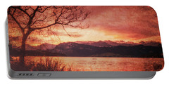Lucerne Switzerland Sunrise Texture 7k_dsc2162_09132017 Portable Battery Charger