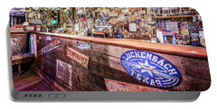 Luckenbach Bar Portable Battery Charger by Andy Crawford
