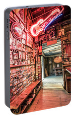 Portable Battery Charger featuring the photograph Luckenbach Wall Of Fame by Andy Crawford