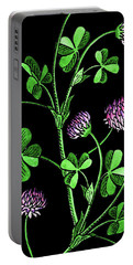 Lucky Clover Watercolour Portable Battery Charger