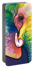 Lucky Elephant Spirit Portable Battery Charger by Sarah Jane
