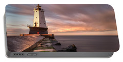 Portable Battery Charger featuring the photograph Ludington Light Sunrise Long Exposure by Adam Romanowicz