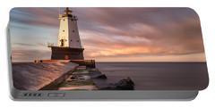 Ludington Light Sunrise Long Exposure Portable Battery Charger