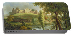 Ludlow Castle With Dinham Weir Portable Battery Charger by Samuel Scott