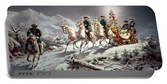 Ludwig II Of Bavaria Sleighing At Night From Neuschwanstein To Linderhof Portable Battery Charger
