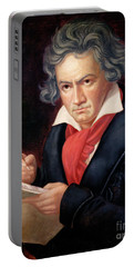 Ludwig Van Beethoven Composing His Missa Solemnis Portable Battery Charger