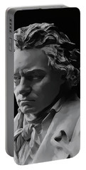 Portable Battery Charger featuring the mixed media Ludwig Van Beethoven by Daniel Hagerman