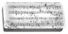 Ludwig Van Beethoven Sketch For Tenth Symphony Portable Battery Charger