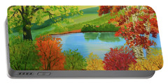 Luminous Colors Of Fall Portable Battery Charger