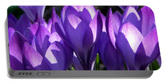 Portable Battery Charger featuring the photograph Luminous Floral Geometry by Byron Varvarigos