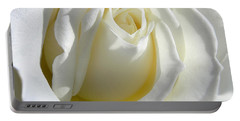 Luminous Ivory Rose Portable Battery Charger