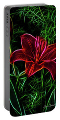 Luminous Lily Portable Battery Charger by Joann Copeland-Paul