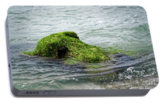 Portable Battery Charger featuring the photograph Lumot Moss Seal by Paul Mashburn
