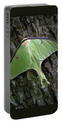 Luna Moth Portable Battery Charger by Marie Hicks