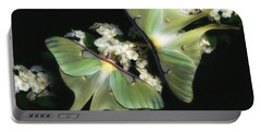 Luna Moths Portable Battery Charger