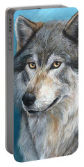 Portable Battery Charger featuring the painting Luna by Sherry Shipley