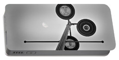 Lunar Lamp In Black And White Portable Battery Charger