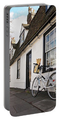 Portable Battery Charger featuring the photograph Lunch French Style By Bicycle In Cambridge by Gill Billington