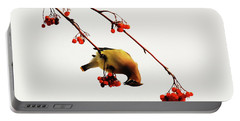 Lunchtime - Cedar Waxwing Portable Battery Charger