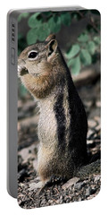Lunchtime For Ground Squirrel Portable Battery Charger by Sally Weigand