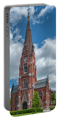 Portable Battery Charger featuring the photograph Lund All Saints Church by Antony McAulay