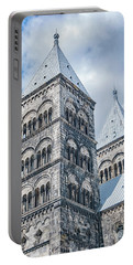 Portable Battery Charger featuring the photograph Lund Cathedral In Sweden by Antony McAulay