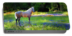 Portable Battery Charger featuring the photograph Lupine Delight by Melinda Hughes-Berland