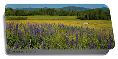 Portable Battery Charger featuring the photograph Lupine Festival by Brenda Jacobs
