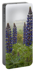 Lupine In The Fog Portable Battery Charger