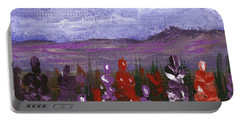 Portable Battery Charger featuring the painting Lupine Land #2 by Anastasiya Malakhova