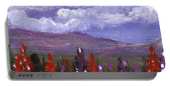 Portable Battery Charger featuring the painting Lupine Land #3 by Anastasiya Malakhova