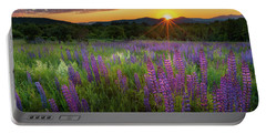 Portable Battery Charger featuring the photograph Lupine Lumination by Bill Wakeley