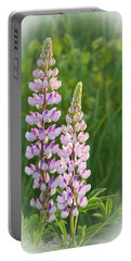Portable Battery Charger featuring the photograph Lupine Pair by Paul Miller