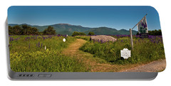 Portable Battery Charger featuring the photograph Lupine Path To The Notch by Brenda Jacobs