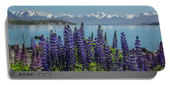 Lupines At Lake Tekapo Portable Battery Charger