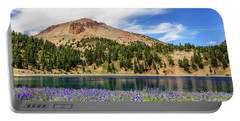 Lupines Lake And Lassen Portable Battery Charger