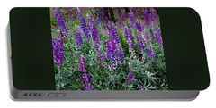 Lupines Stand Proud Portable Battery Charger by Jennifer Lake