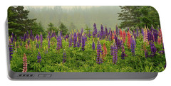 Lupins In The Mist Portable Battery Charger