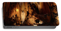 Portable Battery Charger featuring the photograph Luray Dark Caverns by Paul Ward