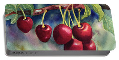 Luscious Cherries Portable Battery Charger