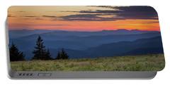 Lush Blue Ridge Mountain Sun Rise Portable Battery Charger