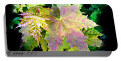 Portable Battery Charger featuring the mixed media Lush Spring Foliage by Will Borden